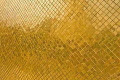 Golden tile texture Royalty Free Stock Photos