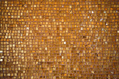 Golden tiled floor Stock Photo