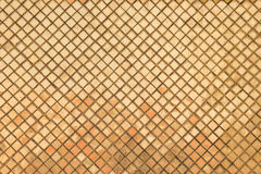 Golden tiled glasses mosaic texture Royalty Free Stock Photos