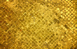 Golden tiles background Stock Photos