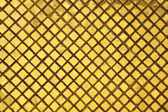 Golden tiles background Stock Photography