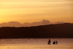 Golden Time Sunset. I take this picture in Bira Beach,Bulukumba,South Celebes Stock Photo