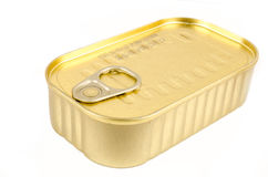 Golden tin Royalty Free Stock Photos