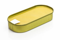 Golden tin can Royalty Free Stock Image