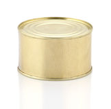 Golden tin can  Stock Photos