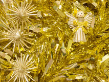 Golden tinsel Royalty Free Stock Photos
