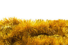 Golden tinsel Stock Images