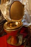 The golden toilet Stock Photo