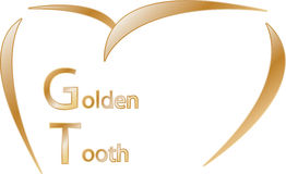 Golden Tooth logo dentist Stock Photos