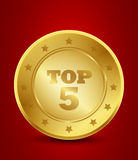 Golden top five Stock Images