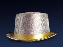 Golden top hat Royalty Free Stock Photos