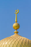 Golden top of mosque Stock Photography