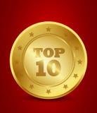 Golden top ten Royalty Free Stock Photography