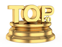 Golden top ten icon Stock Photos