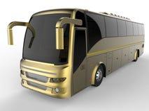 Golden tour bus Stock Images