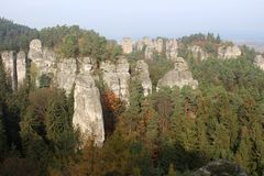 The rock town of Bohemian Paradise stock photo