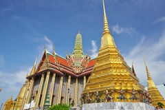 Golden Tower in the Grand Palace in Bangkok Stock Photo
