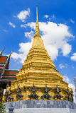 The Golden tower of Grand Palace of Thailand Royalty Free Stock Photos
