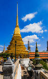 Golden tower of The Grand Palace at Thailand Royalty Free Stock Images