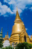 The Golden tower of Grand Palace of Thailand stock photo