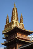 Golden tower in Jingan Temple Stock Image
