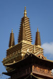 Golden tower in Jingan Temple Royalty Free Stock Images