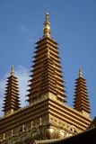 Golden tower in Jingan Temple Royalty Free Stock Image
