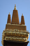 Golden tower in Jingan Temple Royalty Free Stock Photos