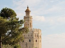 Golden Tower landmark Seville Spain Stock Photo
