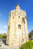 Golden Tower. Seville City. Andalusia, Spain. Stock Photos