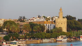 The Golden Tower, Seville stock photography