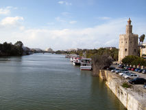 The golden tower in seville Royalty Free Stock Photos