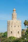 Golden Tower Seville Spain Royalty Free Stock Images