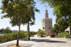 The Golden Tower in Seville Royalty Free Stock Image