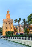 Golden Tower (Torre del Oro) of Seville, Andalusia, Spain Royalty Free Stock Photography