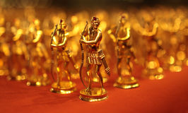 Golden toy soldiers Royalty Free Stock Photos