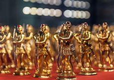 Golden toy soldiers Stock Photos