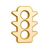 Golden traffic light symbol Royalty Free Stock Photography