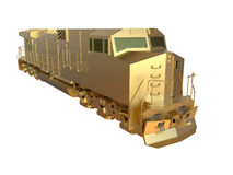 Golden train locomotive Stock Photo