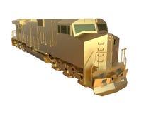 Golden train locomotive Stock Photo