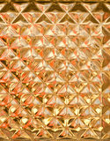 Golden transparent glass wall texture Stock Photography