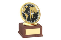 Golden Travelling Award, 3D rendering Royalty Free Stock Images