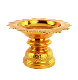 Golden tray with pedestal Royalty Free Stock Photos
