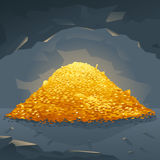Golden Treasure in Cave Royalty Free Stock Images