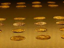 Golden treasure. A huge golden treasure collection Stock Photos