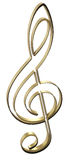 Golden treble clef Stock Photo