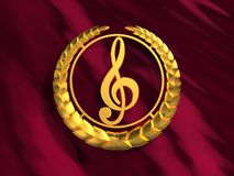 Golden treble clef Stock Images