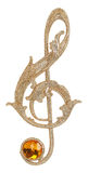 Golden treble clef Royalty Free Stock Photography