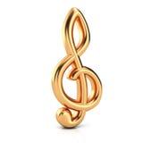 Golden treble clef Royalty Free Stock Photos