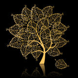 Golden tree Stock Images